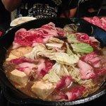 wagyu beef sukiyaki hot pot!!