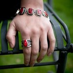 Red Coral Ring and Bracelet