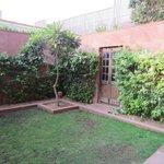 garden with connecting door