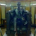 A replica of the statue in the Lincoln Memorial