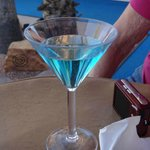 Blue-Raspberry Martini at Happy Hour