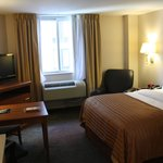 Very nice size room and comfortable King Bed