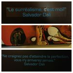 Salvador Dali artwork and quotes