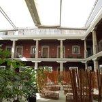 The interior courtyard of boutique Hotel de Cortes