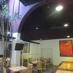 A modern and spacious design at Acafe with very high ceiling