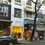 A cafe is located at 23 Dong Khoi (main shopping St. in Saigon), inside Anna Vo  Fashion Shop