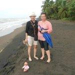 en el mar caribe en tortuguero