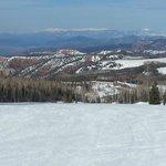Beautiful views and empty ski runs