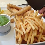 Winships Cod Goujons and Chipos with Mushy Peas