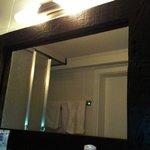 der Badspiegel aus Holz :)