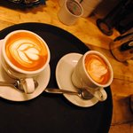 Coffees prepared by trained baristas