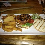 Wild Boar and Chorizo Burger - with REAL chips