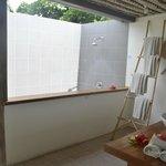 private outdoor bathroom