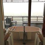 Blick von der Badewanne auf die Nordsee