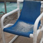 chair in pool area