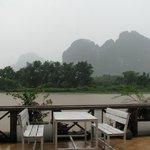 Вид с террасы ресторана