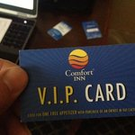 ask for you VIP card for free appetizers at restaurant