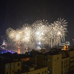New Year's Fireworks from the Waldorf Astoria Shanghai