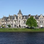 Stratness House from across the River Ness.