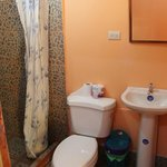 "bathroom of our ""Honeymoon cabin"""