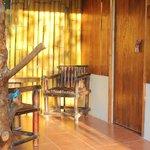 veranda of Honeymoon cabin