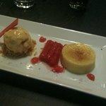 Rhubarb and custard (like a disconstructed rhubarb crumble)