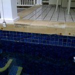 Subsidence cracks, chipped pool tiles and rusty fittings