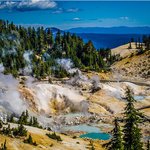 Bumpass Hell at Lassen National Park near Redding, CA