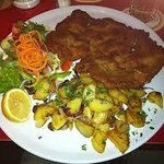 A Real Wiener Schnitzel with homemade potatoes !