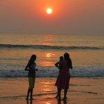Gorgeous sunset at Palolem Beach