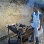 Braai food being cooked