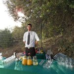 The Barman at our wedding