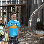 Kid's with a resident Bald Eagle, what a beautiful creature!