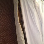 Mattress torn completely open.
