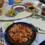 amazing dish of tajine shrimp