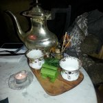 Bloody Marys served in a silver teapot