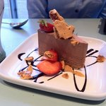 Chocolate mousse and honeycomb