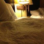 Flauschige Bettdecke