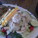 delicious salad with unique bbq vinagrette