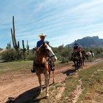 Stopping half way to check the saddles
