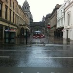 View from the Table onto Ingram street and looking onto the Italian Centre