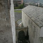 l'anfiteatro romano dalla finestra