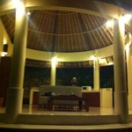 Under the huge bali hut is all your comfy amenities, simplistic and perfect! No mozzies!!