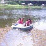 paddle boating at La Vega pond