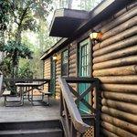 Area externa da cabana