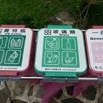 Multi-lingual signs on the grounds.