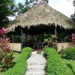 Relaxation hut, with hammock, at Kokoro.