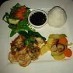 Shrimp dinner by Anita, co-owner of Kokoro.  Thanks Anita!