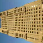 Ramses Hilton no Cairo - Fachada da área da piscina