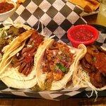 tacos- chicken, pork, beef and mushroom